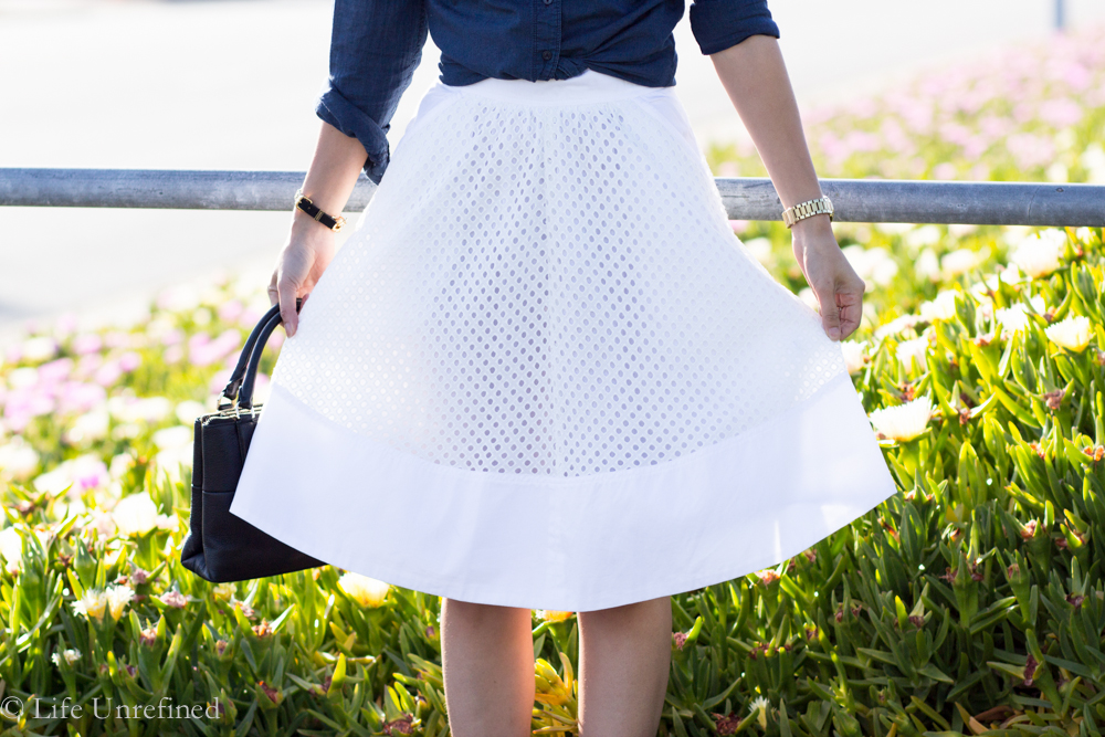 Product Review: eShakti White Eyelet Skirt
