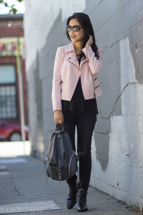 Color Cravings: Banana Republic Moto Jacket in Pink
