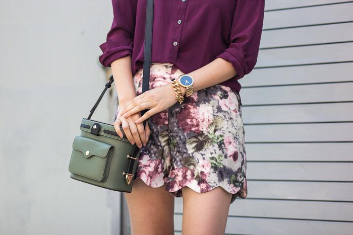 Scallop hem shorts-2