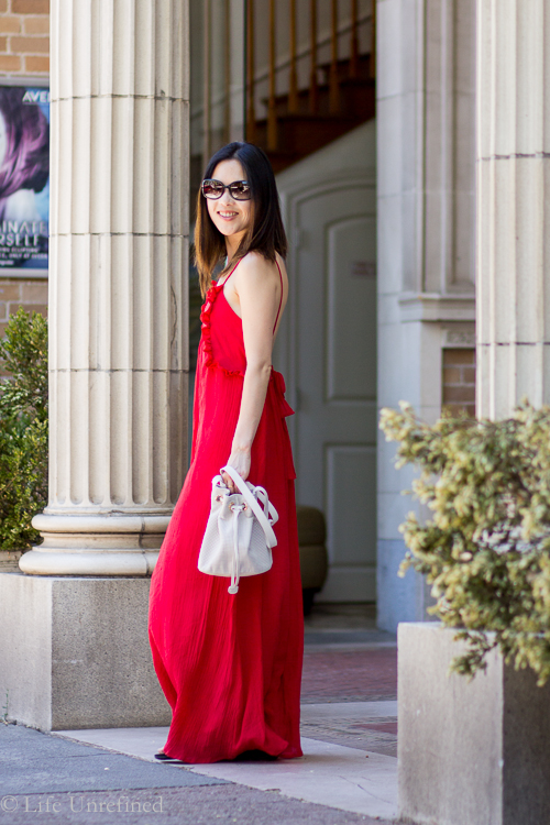 Red Zara dress TOP